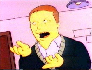 """Adam West como estrella invitada en """"El señor quitanieves"""" (8º capitulo de la 4ª temporada de Los Simpsons)"""